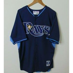Majestic 46 Tampa Bay Devil Rays Jersey Blue MLB
